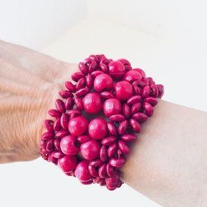 Jewelry - Red wide stretchy fashion bracelet